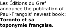 Les Éditions du Gref